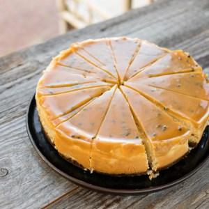 Cheesecake passievrucht